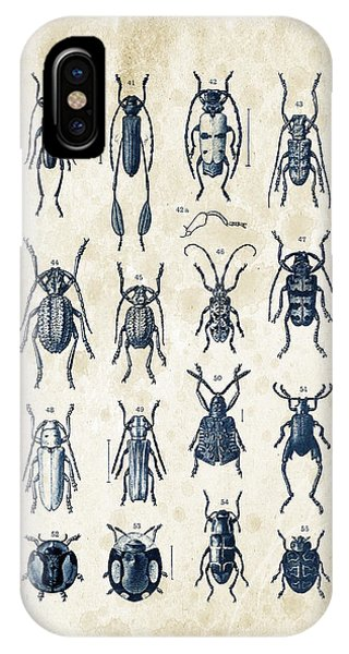 Coleoptera iPhone Case - Beetles - 1897 - 04 by Aged Pixel