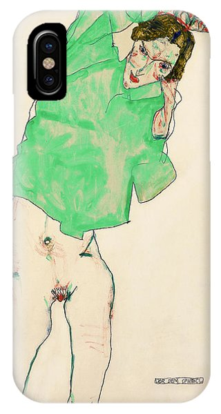 Lgbt iPhone Case - Before The Mirror by Egon Schiele