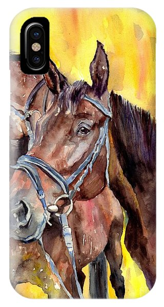 Swiss iPhone Case - Before The Race by Suzann's Art