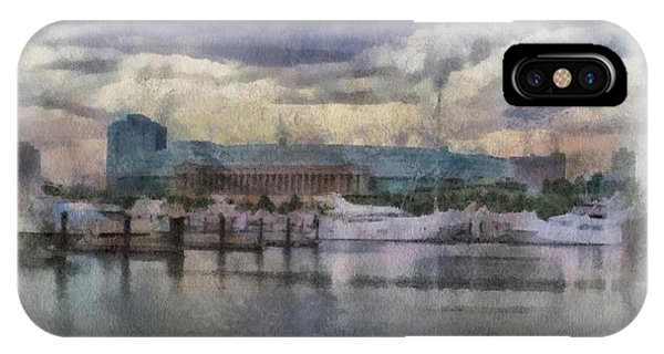 Before The Storm Chicago Soldier Field Pa 01 IPhone Case