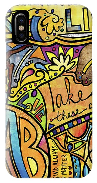 Texture iPhone Case - Begin To Live by Kelly Maddern