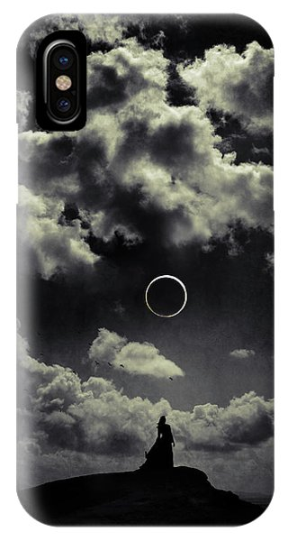 Dark Clouds iPhone Case - Beginning Of The End by Cambion Art