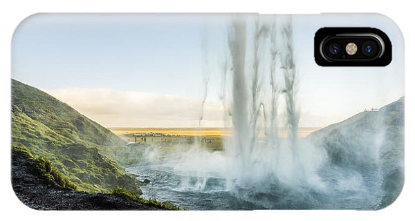 IPhone Case featuring the photograph Behind Seljalandsfoss by James Billings