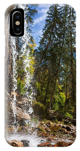 Rocky Mountain iPhone Case - Behind Spouting Rock Waterfall - Hanging Lake - Glenwood Canyon Colorado by Brian Harig