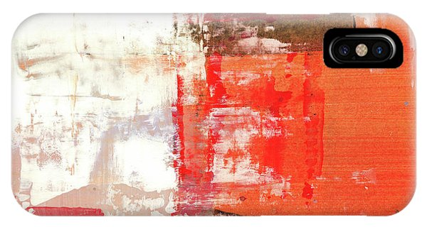 Behind The Corner - Warm Linear Abstract Painting IPhone Case