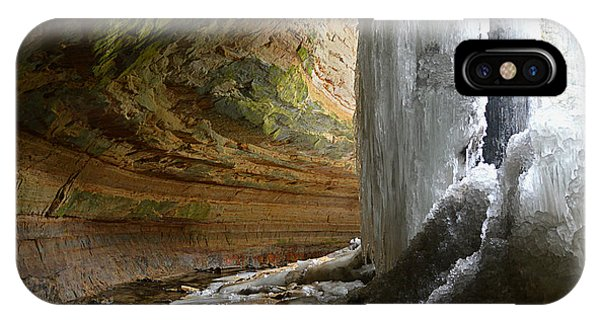 Behind The Ice Falls IPhone Case