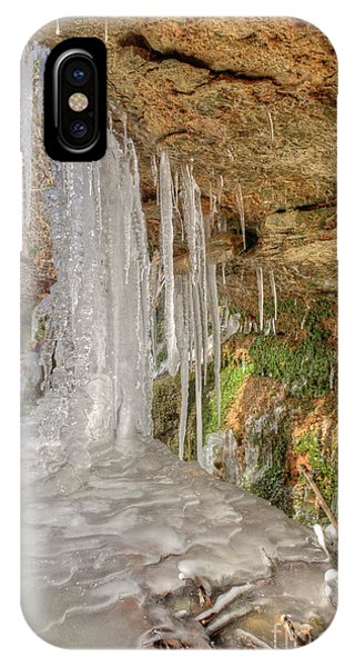 IPhone Case featuring the photograph Behind The Ice by Wanda Krack