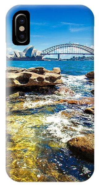 South Pacific Ocean iPhone Case - Behind The Rocks by Az Jackson