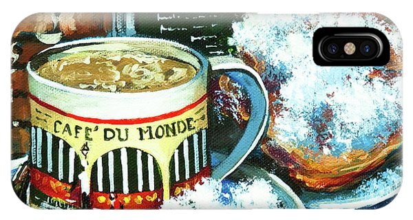 French Artist iPhone Case - Beignets And Cafe Au Lait by Dianne Parks