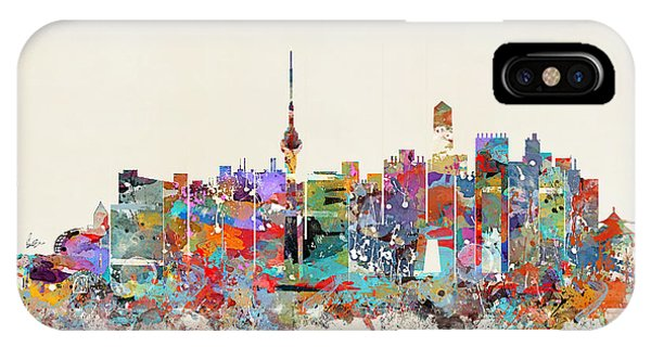 Chinese iPhone Case - Beijing China Skyline by Bri Buckley