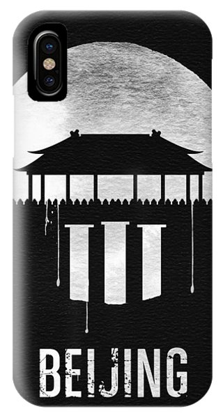 Chinese iPhone Case - Beijing Landmark Black by Naxart Studio