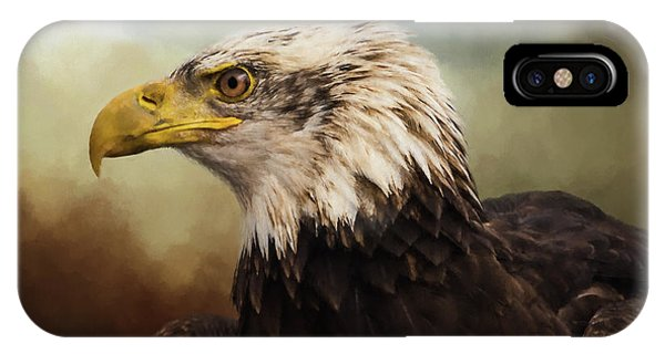 IPhone Case featuring the photograph Being Patient - Eagle Art by Jordan Blackstone