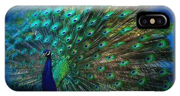 Being Yourself - Peacock Art IPhone Case