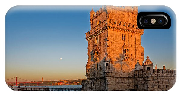Belem Tower And The Moon IPhone Case