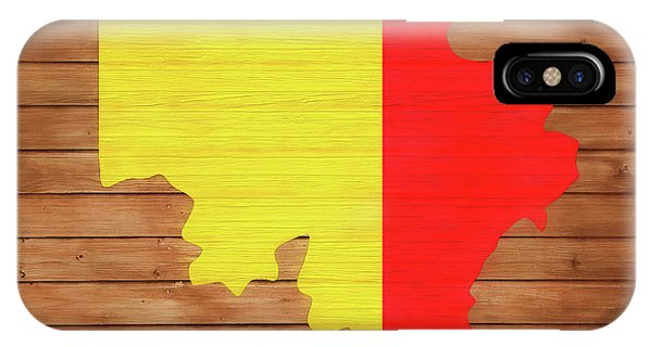 Traveler iPhone Case - Belgium Rustic Map On Wood by Dan Sproul