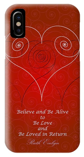 Believe And Be Alive IPhone Case