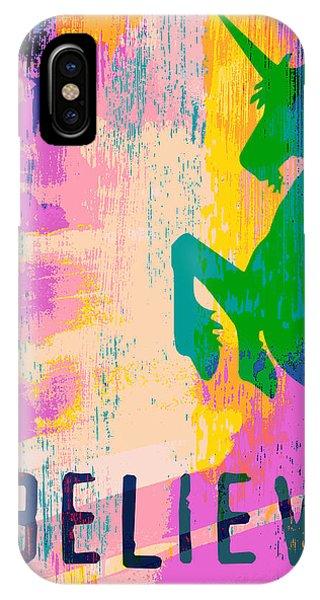 Unicorn iPhone Case - Believe In Unicorns by Brandi Fitzgerald
