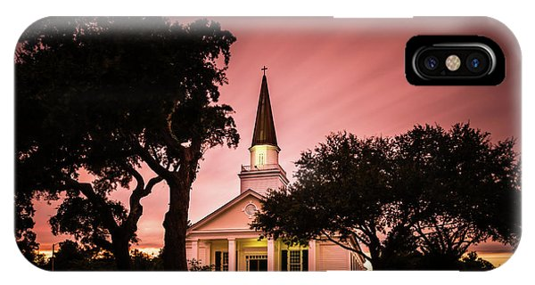 Church iPhone Case - Belin Memorial Umc Sunset by Ivo Kerssemakers