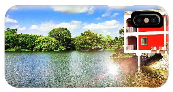 Belize River House Reflection IPhone Case