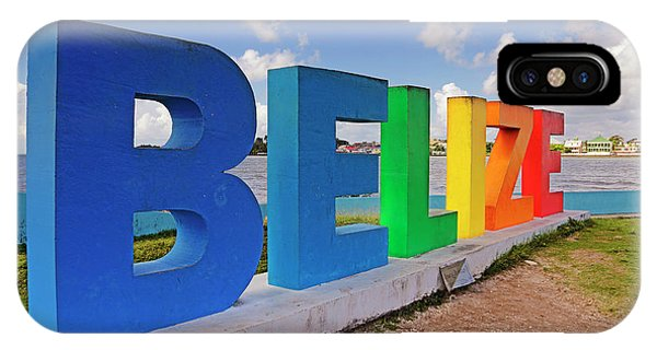 IPhone Case featuring the photograph Belize Sign Dedicated To Lena Quinto - Fort George, Belize - Caribbean by Jason Politte