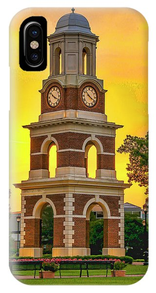 IPhone Case featuring the photograph Bell Tower At Christopher Newport University C N U by Ola Allen