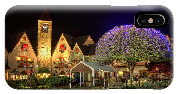 Bell Tower Square Christmas IPhone Case