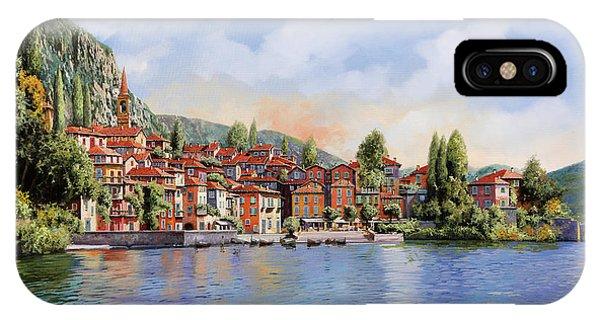 Lake iPhone Case - Bellagio A Colori by Guido Borelli