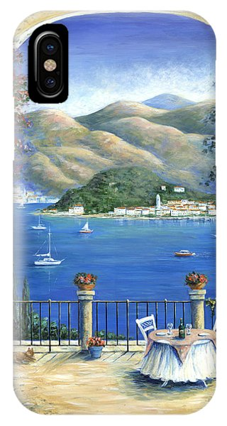 Table For Two iPhone Case - Bellagio Lake Como From The Terrace by Marilyn Dunlap