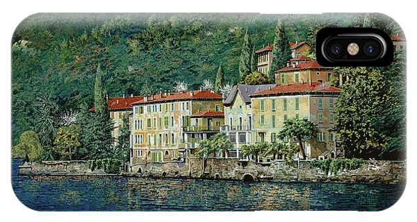 Oil iPhone Case - Bellano On Lake Como by Guido Borelli