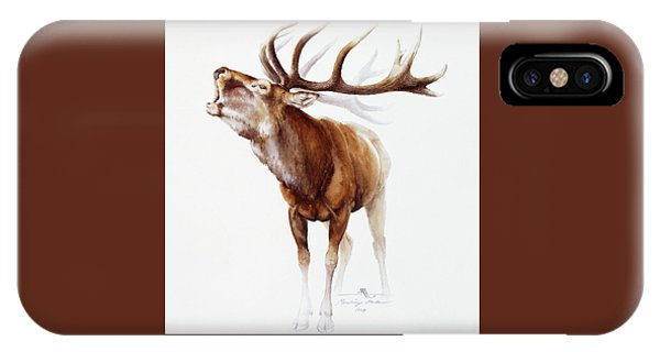 Belling Stag Watercolor IPhone Case