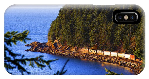 Bellingham Bay And Train IPhone Case