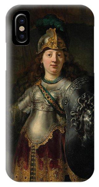 Gorgon iPhone Case - Bellona by Rembrandt Harmenszoon van Rijn