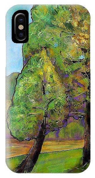 Fir Trees iPhone Case - Beloved One by Blenda Studio