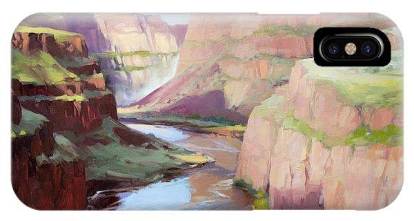 Tan iPhone Case - Below Palouse Falls by Steve Henderson