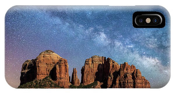 Below The Milky Way At Cathedral Rock IPhone Case