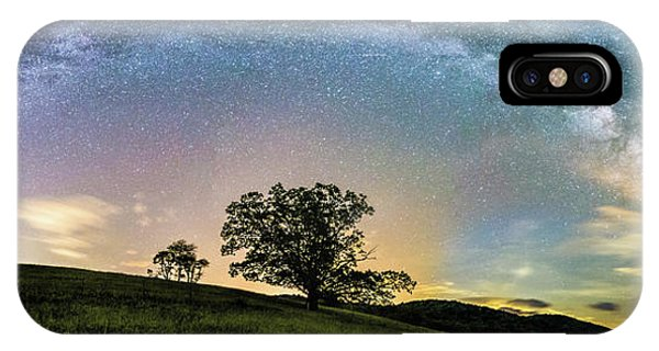 Below The Milky Way At The Blue Ridge Mountains IPhone Case
