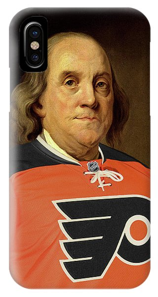 Ben Franklin In A Flyers Jersey IPhone Case