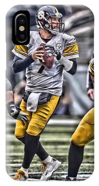 Iphone 4 iPhone Case - Ben Roethlisberger Pittsburgh Steelers Art by Joe Hamilton