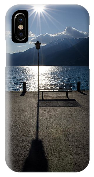 Bench And Street Lamp IPhone Case