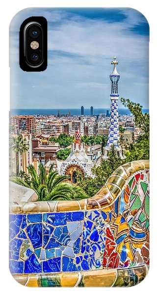 Bench Of Barcelona IPhone Case