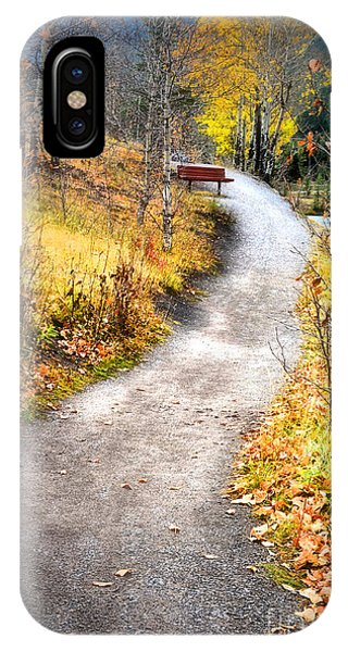 Bench On A Hill IPhone Case