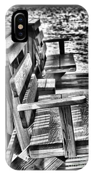 Benches By The Sea IPhone Case