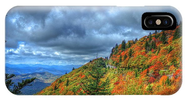 Bend In The Road Blue Ridge Parkway Art IPhone Case