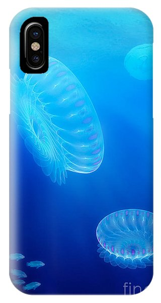Digital Effect iPhone Case - Beneath A Fractal Sea by John Edwards