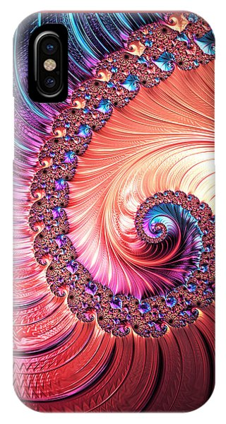 Beneath The Sea Spiral IPhone Case