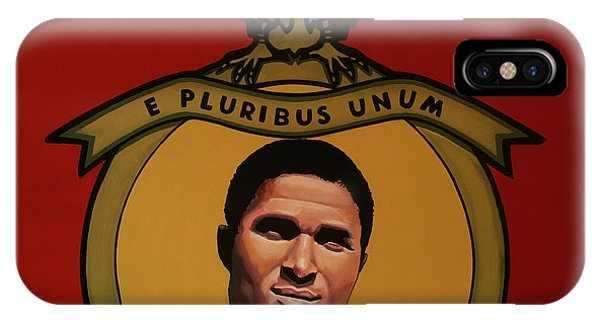 Or iPhone Case - Benfica Lisbon Painting by Paul Meijering