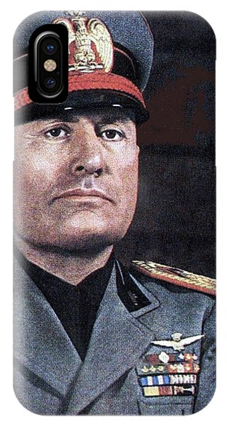 Benito Mussolini Color Portrait Circa 1935 IPhone Case
