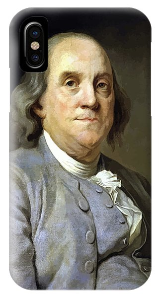Ben iPhone Case - Benjamin Franklin Painting by War Is Hell Store