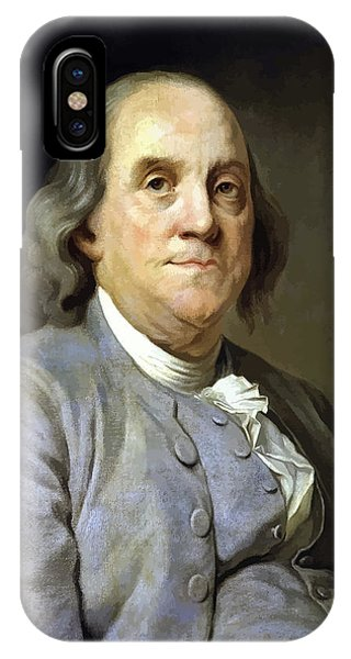 Patriots iPhone Case - Benjamin Franklin Painting by War Is Hell Store