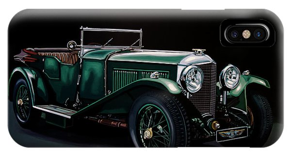 Open iPhone Case - Bentley Open Tourer 1929 Painting by Paul Meijering